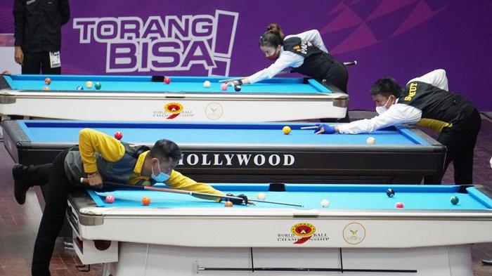 Hasil PON XX Papua 2021 - Erwin Kurniawan & Rudy Susanto Raih Emas Biliar Ganda Bola 9 untuk Jatim