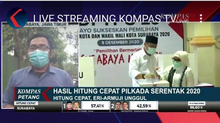 Hasil Quick Count Pilwali 2020 Surabaya Eri Cahyadi - Armuji Unggul, Pidato Kemenangan: Innalillahi
