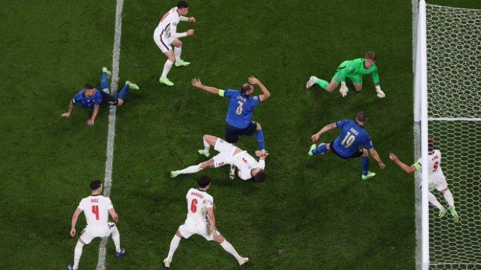 Hasil Skor Akhir Italia vs Inggris Final EURO 2020, The Three Lions-Gli Azzurri Imbang ke Tambahan