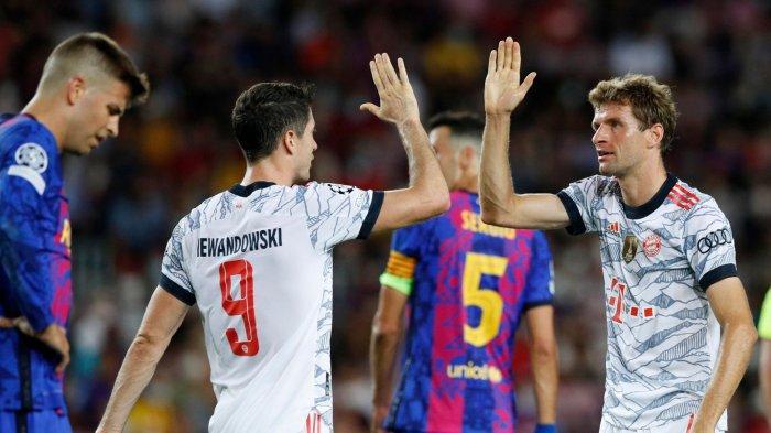Hasil Skor Barcelona vs Bayern Munchen 0-3: Brace Lewandowski Pecundangi Barca di Camp Nou