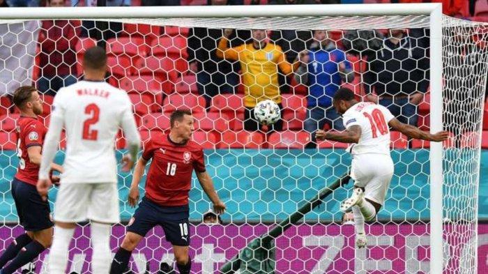 Hasil Skor Ceko vs Inggris; Gol Raheem Sterling di babak pertama, Rabu (23/6/2021)