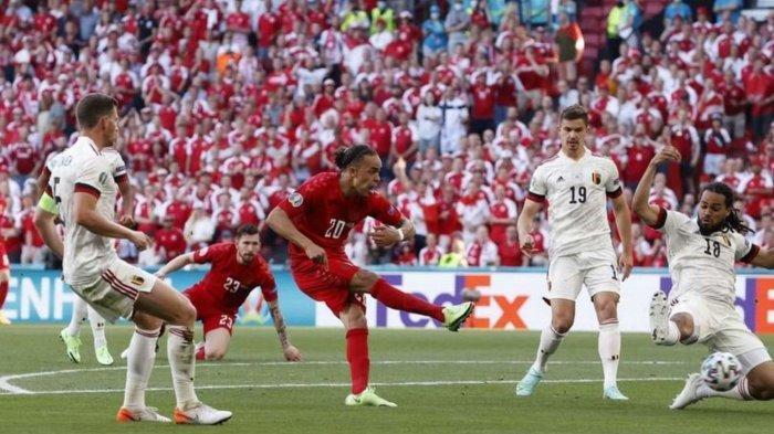 Hasil Skor Denmark vs Belgia di Babak Pertama: Gol Yussuf Poulsen di Menit Awal Kejutkan Setan Merah