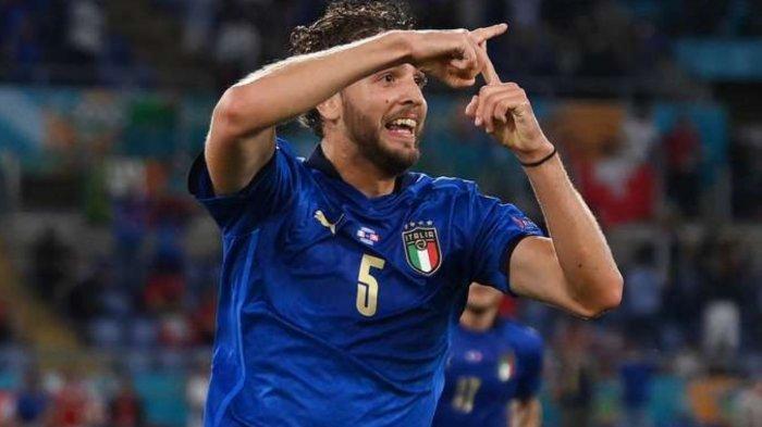Hasil Skor Italia vs Swiss di Babak Pertama, Manuel Locatelli pencetak gol pertama, Kamis (17/6/2021)