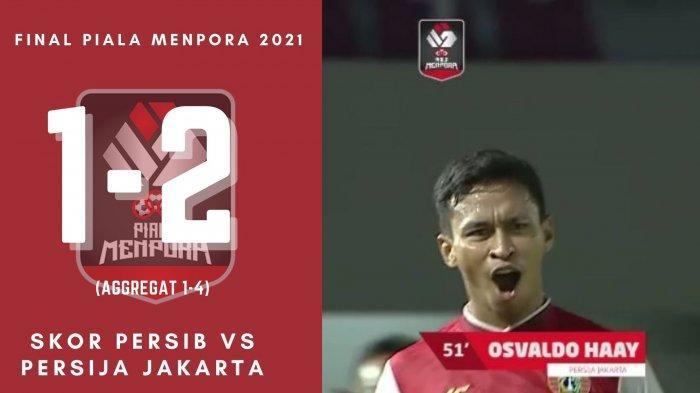 Hasil Skor Persib vs Persija Jakarta di Final Piala Menpora 2021