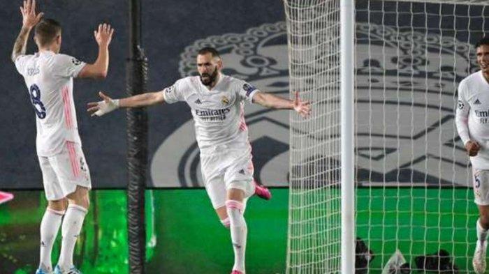 Hasil Skor Real Madrid vs Chelsea di Babak I: 1-1, Karim Benzema Cetak Gol Penyeimbang