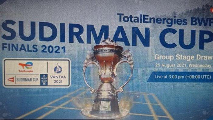 Jadwal Piala Sudirman 2021, Jadwal Tanding Indonesia di Fase Grup