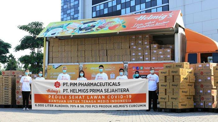 PT PIM Pharmaceuticals dan PT Helmigs Prima Sejahtera Kirim Bantuan untuk Tenaga Medis