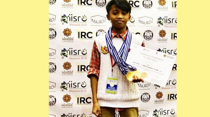 Wow, Bocah SD ini Borong Juara Robot Dunia, Osa Menjadi yang Terbaik di IISRO 2018 di Malaysia