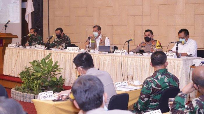 Rakor Penanganan Covid-19 Bersama Kepala BNPB, Sekdaprov Jatim: Pentingnya Koordinasi Antar Pihak