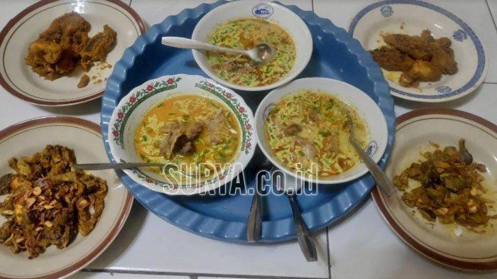 Hidangan becek mawot Mak Windaryati, Desa Sugiharjo, Kecamatan Tuban, Kabupaten Tuban.