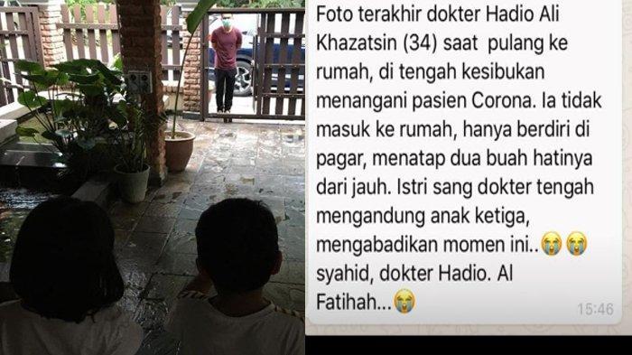 Foto Momen Terakhir dr Hadio Ali Khazatsin yang Meninggal usai Rawat Pasien Corona Ternyata Hoax