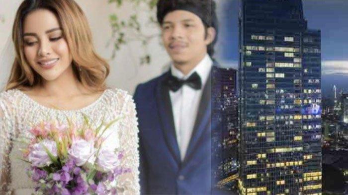 Hotel Raffles tempat pernikahan Atta Halilintar dan Aurel Hermansyah, Sabtu (3/4/2021).