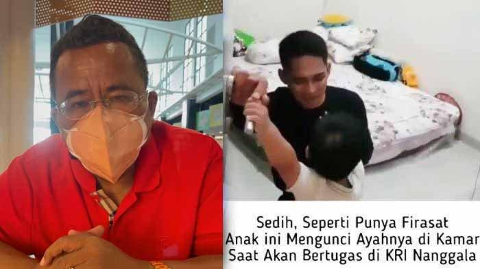 Hotman Paris Cari Anak Lettu Imam Adi yang Videonya Halangi Ayahnya Dinas di KRI Nanggala 402 Viral