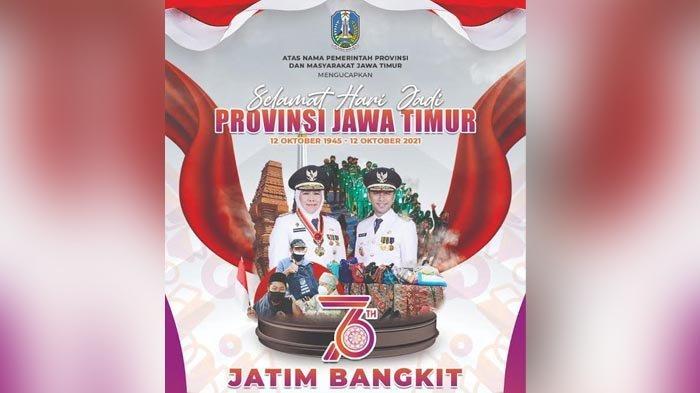 HUT Jatim Ke-76, Gubernur Khofifah Serukan Jatim Bangkit dari Pandemi Covid-19 dan Ekonomi Pulih