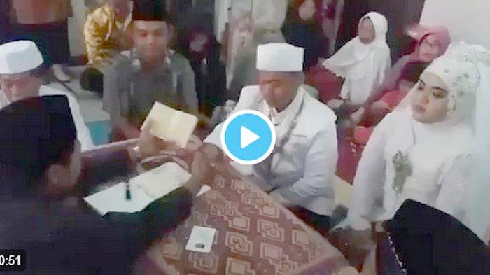 VIDEO - Seusai Wali Serukan 'Sah', Perhatikan Aksi Mempelai Pria ini!