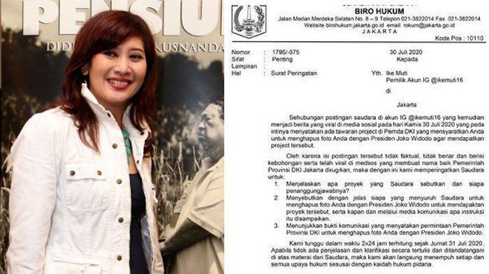 Biodata Ike Muti, Artis yang Disomasi Pemprov DKI seusai Curhat Batal Dapat Job karena Jokowi Banget