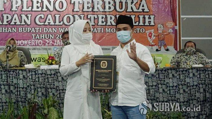 KPU Umumkan Paslon IkBar Sebagai Bupati dan Wakil Bupati Mojokerto Terpilih di Pilbup Mojokerto 2020