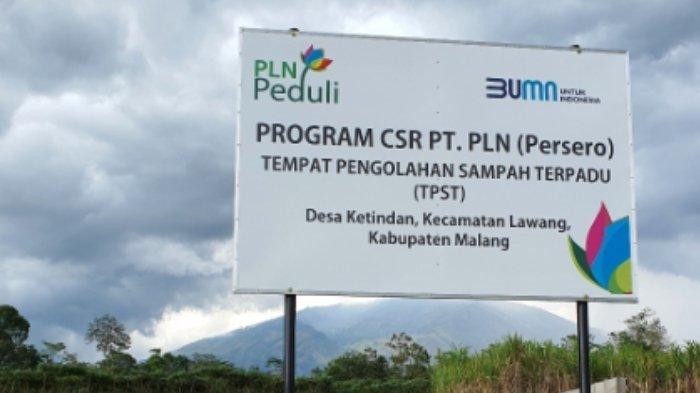 Dukung Kebersihan Lingkungan, PLN Bantu Pembangunan Tempat Pengolahan Sampah Desa Ketindan