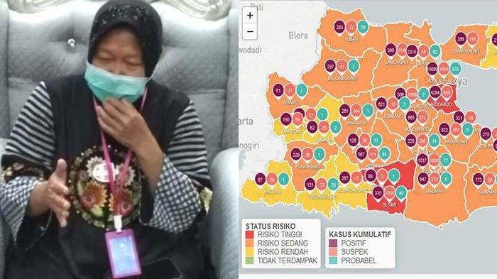Berita Surabaya Hari ini Populer: Risma Minta Tenaga Pendidik Kerja dari Rumah, Covid-19 Naik 125