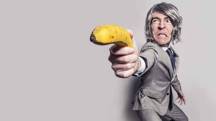Ilustrasi lemah syahwat digambarkan pisang