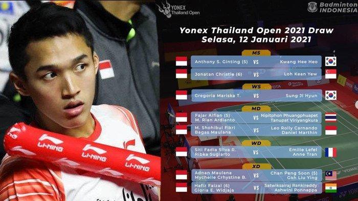Link Live Streaming Badminton Thailand Open Hari ini 12 Januari 2021 di TVRI, ini Jadwal Lengkapnya