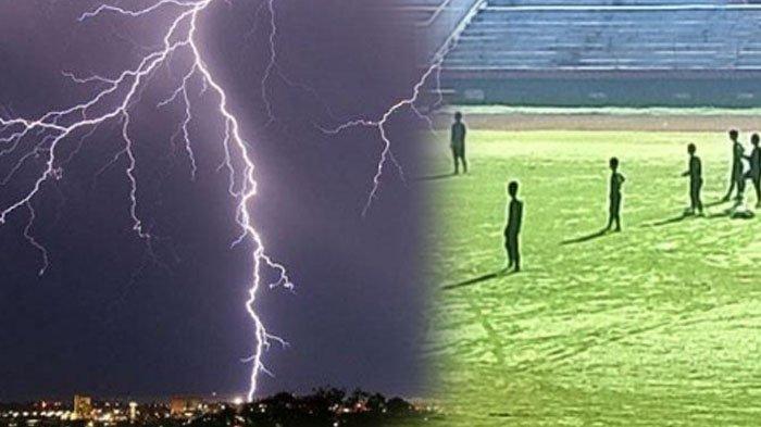 Detik-detik 2 Pemain Bola Indonesia Tersambar Petir hingga Berasap, Insiden di Tuban Juga Tragis