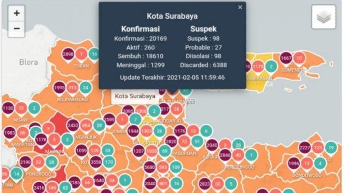 UPDATE Virus Corona di Surabaya Hari ini 7 Februari: Tambah 54 Kasus, PPKM Jilid 2 Segera Berakhir