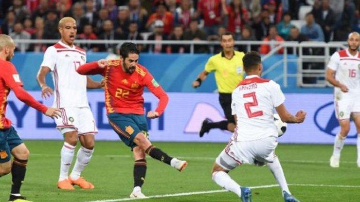Hasil Piala Dunia 2018 Spanyol vs Maroko, Teknologi VAR Selamatkan Matador