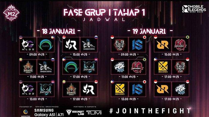 Jadwal M2 World Championship Selasa 19 Januari: Alter Ego di Laga Pertama, RRQ Hoshi Kapan?