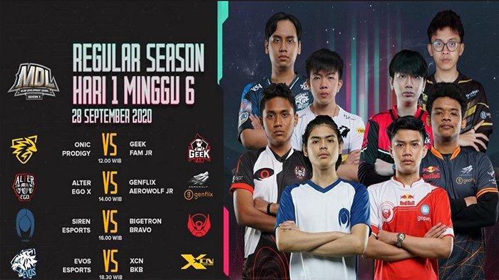 Jadwal MDL Season 2 Week 6 Day 1: Dimulai Lebih Awal, Empat Pertandingan Bakal Diselenggarakan