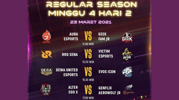 Jadwal MDL Season 3 Hari Ini, Selasa 23 Maret 2021: EVOS vs Dewa United, Posisi Macan Muda Terancam
