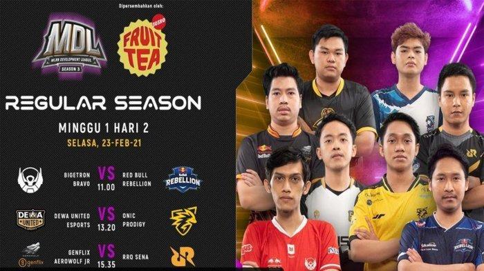 Jadwal MDL Season 3 Week 1 Hari Ini, Selasa 23 Februari 2021: Wajah Baru RRQ Siap Unjuk Gigi