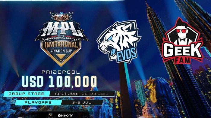 Jadwal MPL Invitational 4 Nation Cup Hari Ini, Sabtu 20 Juni 2020: Evos Legends Main Jam 11.00