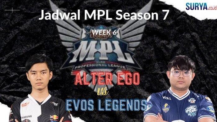 Jadwal MPL Season 7 Week 6, Jumat 2 April 2021: Alter Ego vs EVOS Legends, Onic Tantang GFLX