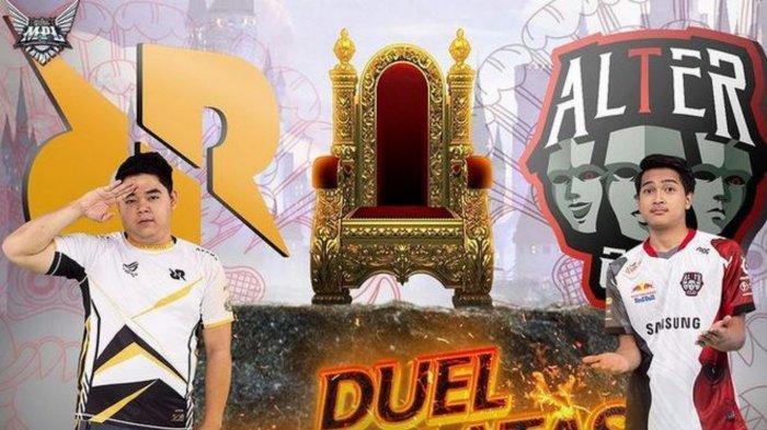 RRQ Hoshi berhasil memenangi duel melawan Alter Ego di MPL Season 8 Week 7 Hari Kedua, Sabtu 25 September 2021