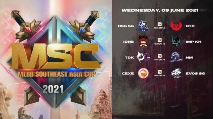 Jadwal MSC 2021 Hari Ketiga Rabu 9 Juni: Bigetron Alpha vs RSG SG, EVOS Lawan Cyber Exe Vietnam