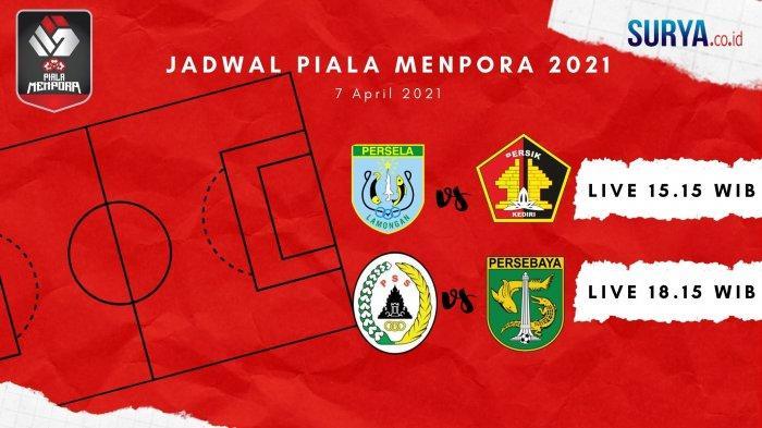 Jadwal Piala Menpora Hari Ini: PS Sleman vs Persebaya Surabaya, Persela Lawan Persik Kediri