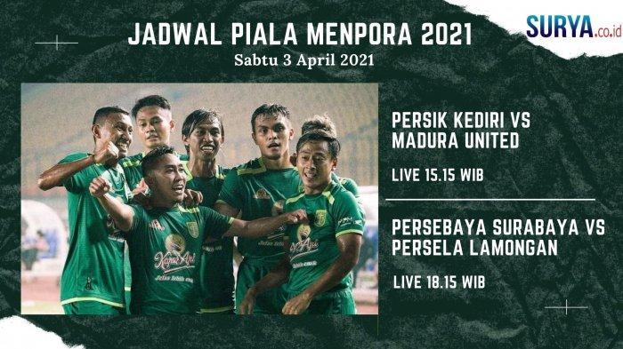 Jadwal Piala Menpora: Persebaya vs Persela, Sabtu (3/4/2021)