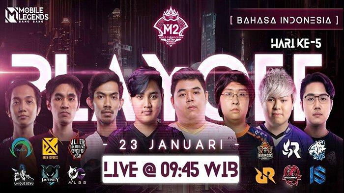Jadwal Playoff M2 World Championship, 23 Januari