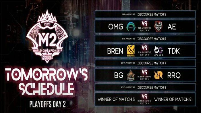 Jadwal Playoff M2 World Championship: RRQ Hoshi vs BG di Upper Bracket, Alter Ego Tantang Omega