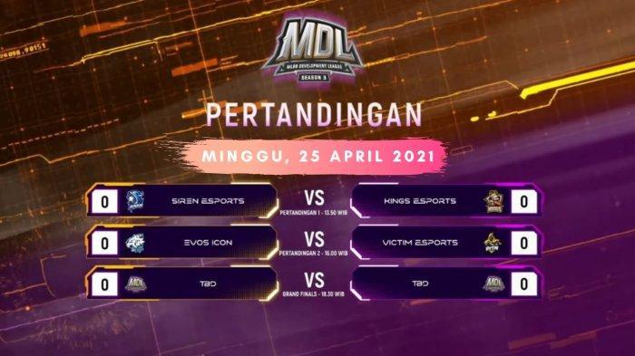 Jadwal Playoff MDL Season 3, Minggu 25 April 2021: EVOS Main Hari Ini, Empat Tim Berebut Gelar Juara