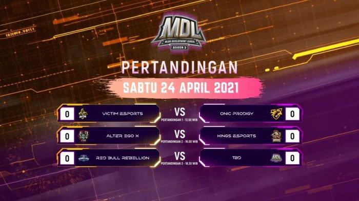 Jadwal Playoff MDL Season 3, Sabtu 24 April 2021: RRQ Tersingkir, Mencari Penantang EVOS & Siren