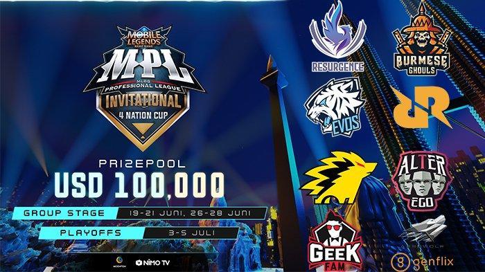 Jadwal Playoff MPL Invitational 4 Nation Cup Hari Ini, Jumat 3 Juli 2020: Evos vs RRQ Jam 13.00 WIB