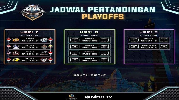 Jadwal Playoff MPL Invitational 4 Nation Cup: Dimulai 3 Juli 2020, Evos vs RRQ, Onic vs Alter Ego
