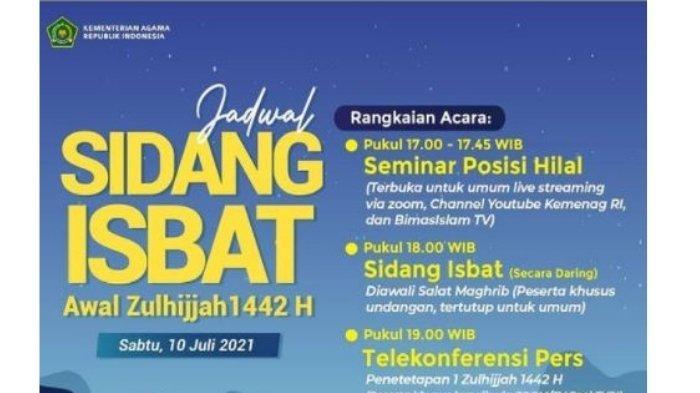 Link Live Streaming Sidang Isbat Penentuan 1 Zulhijah 1442 H dan Idul Adha 2021 Hari ini Pukul 17.00