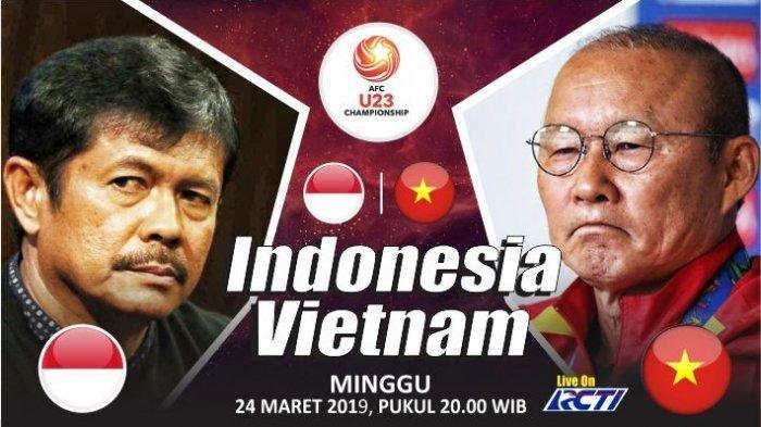 Jadwal & Link Live Streaming Timnas Indonesia vs Vietnam Kualifikasi Piala Asia U23 2020, Malam ini