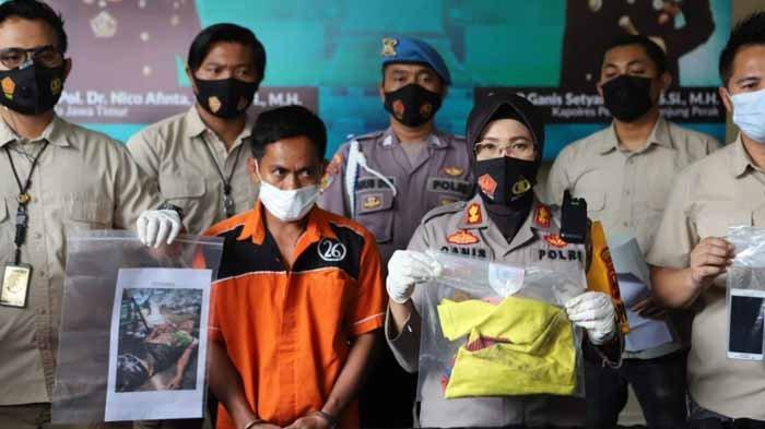 Hasan (36) warga Sawah Pulo Surabaya, sosok jagal sapi yang menghabisi nyawa Syaifudin Sahab (21) diduga karena cemburu ditangkap Polres Tanjung Perak.