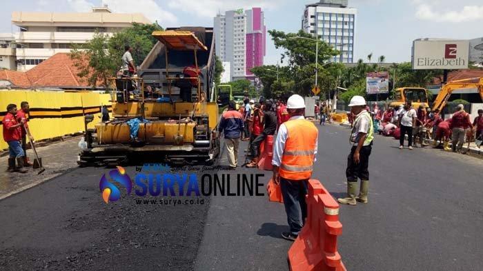 Segini Biaya Perbaikan Jalan Gubeng Ambles