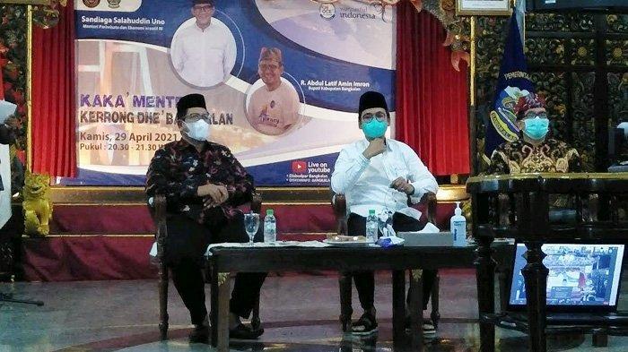 Tindaklanjuti Restra, Sandiaga Uno Dorong Bangkalan Jadi Pemain Utama Pengembangan Ekonomi Kreatif