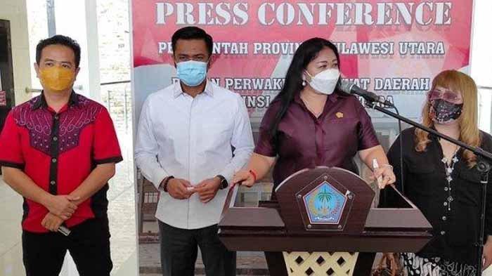 Ketua BK DPRD Sulut, Sandra Rondonuwu memberikan keterangan seusai meminta klarifikasi James Arthur Kojongian di gedung DPRD Sulut, Senin (01/02/2021). James Arthur dimintai keterangan perihal viralnya dugaan perselingkuhannya.